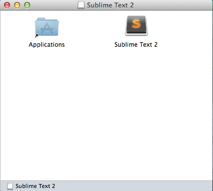 Sublime Text 2 installation interaction on Mac