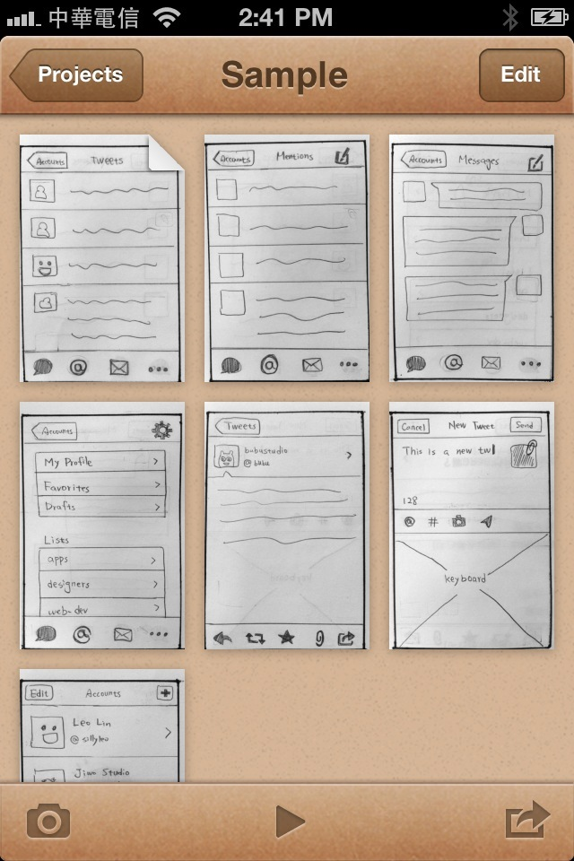Pages of Prototyping on Paper